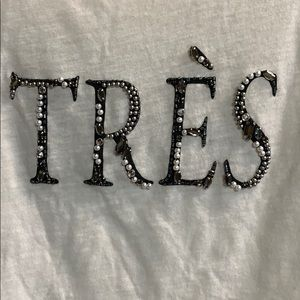 Abercrombie & Fitch Tops - Abercrombie & Fitch tres shirt top bling size M